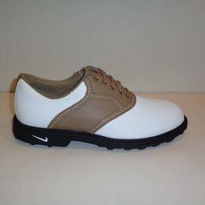 Nike Size 8 COURSE AIR ACCEL White New Golf Shoes